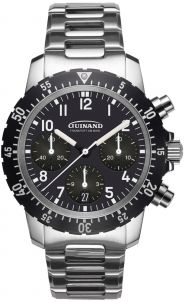 Guinand Flieger Chrono mit Metallband