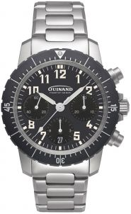 Guinand Flieger Chrono Klassik M mit Metallband