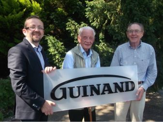 Guinand Frankfurt am Main: three generations of Managing Directors, from the left: Matthias Klueh, Helmut Sinn, Horst Hassler