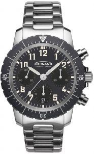 Guinand Flieger Chrono Klassik mit Metallband