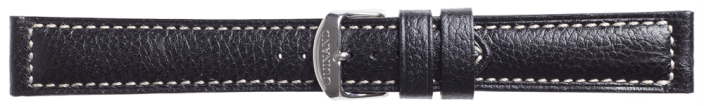 Leather Strap Kalbsleder in black