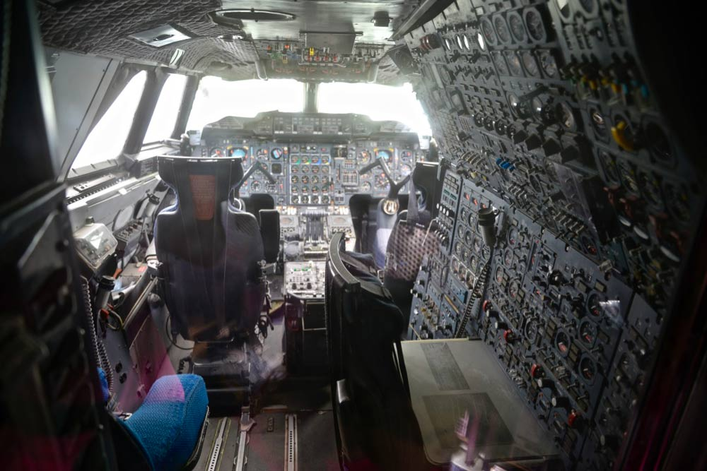 Workplace of a flight engineer